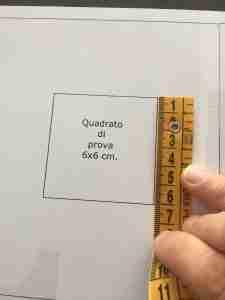 Misurare il quadrato di prova