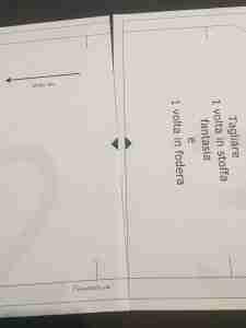 Come assemblare un cartamodello PDF busta porta mascherine