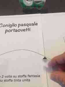 Stampare il cartamodello del coniglio pasquale portaovetti 4