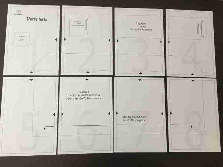 Assemblare il cartamodello pdf del porta torta