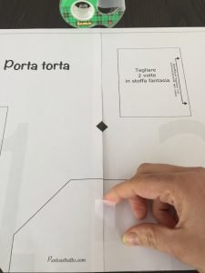 Assemblare il cartamodello pdf del porta torta 6