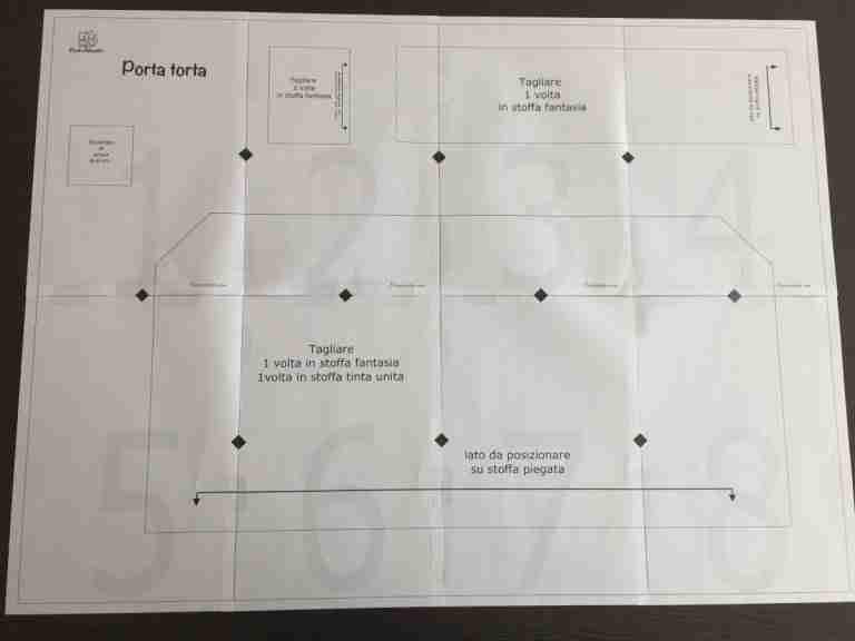 Assemblare il cartamodello pdf del porta torta 7