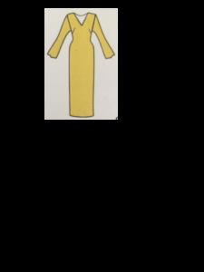 Vestito dritto con maniche lunghe