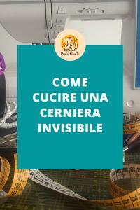 Come cucire una cerniera invisibile