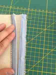 Tutorial come cucire una cerniera invisibile 14