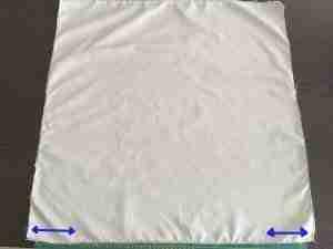 Tutorial per cucire una federa per cuscino con cerniera 7