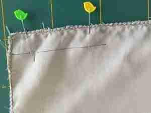 Tutorial per cucire una federa per cuscino con cerniera 8