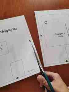 cartamodello shopping bag 2